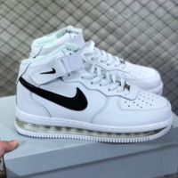 hcxx N803 Nike Air Force 1 AF1 Air Sole External cushion shock absorber High Leather Skate Shoes White Black