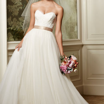 Wtoo by Watters Agatha 13704 Flowy English Net Wedding Dress