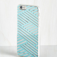 Shine on the Line iPhone 6, 6s Case in Aqua by ModCloth