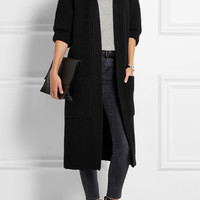 Burberry Brit | Ribbed-knit wool-blend cardigan | NET-A-PORTER.COM