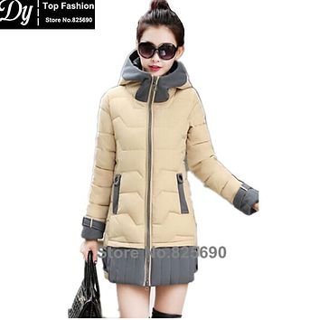 New Padded Winter Jacket Women Cotton Women's Winter Jacket Hooded Cape Padded Slim Plus Size Parkas Hooded Coat