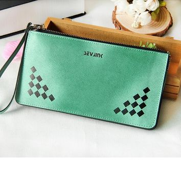Wallet Wristlet Card Holder Long Clutch Zipper Leather Purse New Portefeuilles Des Women Wallets Brand Design High Quality