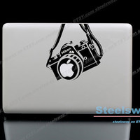 Nikon camera - Mac Decal Macbook Stickers Macbook Decals for Macbook Pro / Macbook Air / iPad / iPad2 / The New iPad/ iPad mini
