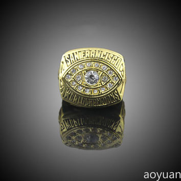aoyuan Championship rings,Super Bowl 1981 San Francisco 49ers in the world championship ring,sp
