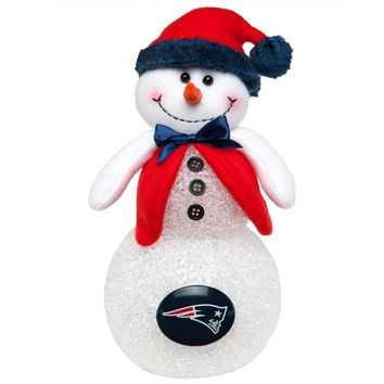 New England Patriots - Light-Up Tabletop Snowman