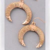 Cresent Earings- Gold