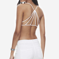 ONE ELEVEN STRAPPY BACK BRALETTE - WHITE from EXPRESS