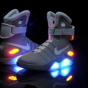 Shoes Back To The Future Movie. Marty McFly's Nike MAG LED Sneakers from 80's BTTF Mic