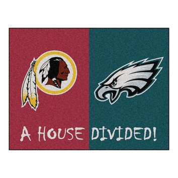 Washington Redskins/Philadelphia Eagles NFL House Divided NFL All-Star Floor Mat (34x45)