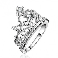 R630-8 Silver Plated New Design Finger Ring For Lady