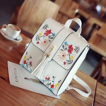Women Hand Bag Embroidery Travel Embroided Bags Women Backpack