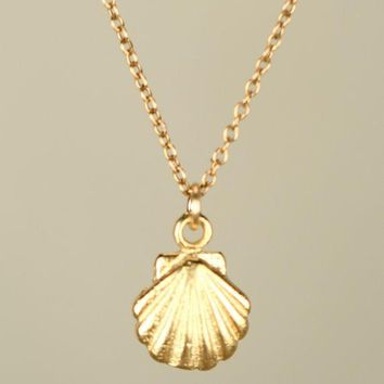 30PCS Seashell Necklace Sea Clam Shell Necklaces Nautical Ariel Mermaid  Necklace Cute Conch Necklaces for Ocean deeeded964
