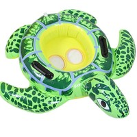 Cute Baby Lifebuoy Seat Cartoon Turtle Inflatable Thickening Swimming Circle