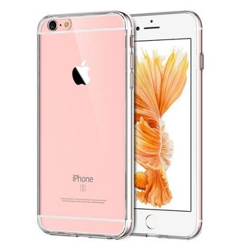 Jetech Case For Apple Iphone 6 Plus And Iphone 6s Plus 5.5 Inch Shock Absorption Bumper Cover Anti Scratch Clear Back Hd Clear
