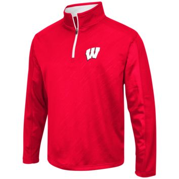 Wisconsin Badgers Performance Fleece 1/4 Zip Track Jacket By Colosseum Athletics