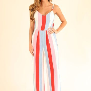 FUN IN FONTANA JUMPSUIT