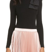 Ted Baker London Nehru Bow Skinny Rib Knit Sweater | Nordstrom