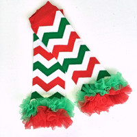 Chevron Ruffled Leg Warmers