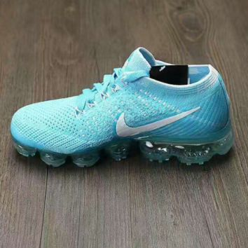 NIKE AIR KNIT Breathable Sneakers Running shoes Sky blue
