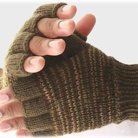 Men's fingerless gloves Great Outdoor by socksandmittens on Etsy