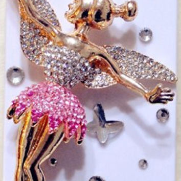iPhashon Huge 3D PINK FAIRY Bling Crystal Case Cover for iPhone 5s & iPhone 5