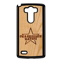 Carved on Wood Effect_Celebrity Hater Black Hard Plastic Case for LG G3 by Chargrilled