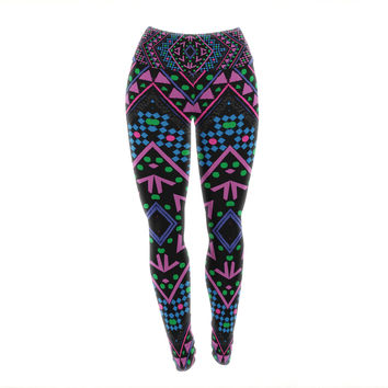 "Nika Martinez ""Neon Pattern"" Yoga Leggings"