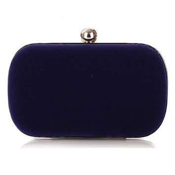 NEW Noble Women Velvet Clutch Purse Cute Small Evening Bags Bridal Handbags BLACK/BLUE/PINK/RED Wedding Shoulder Bag