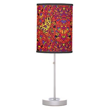 Colorful Organic Pattern Table Lamp