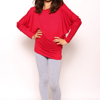 Kids long Sleeve PIKO: Red