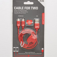 Kikkerland® Cable for Two , Red
