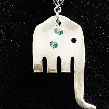 Fork elephant pendant silverware spoon jewelry