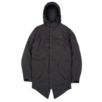 Ventile Cotton Fishtail Parka Black
