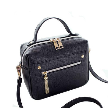 PU Leather Minimalist Crossbody Bag Purse
