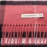 VONE05 Burberry Women's Giant Check Scarf Pink