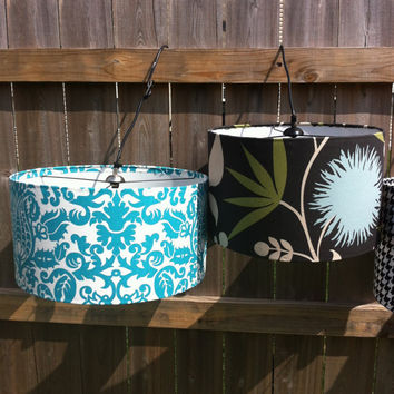 drum lamp shade barrel lampshade for lamp or pendant light 17 x 10. Black Bedroom Furniture Sets. Home Design Ideas