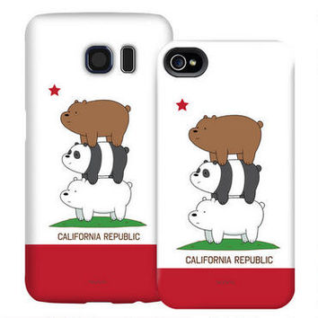 We Bare Bears California Republic Phone Case for iPhone and Galaxy | CartoonNetworkShop.com