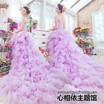 2017 new free shipping wedding dresses sexy women girl good wedding dress gown sy115
