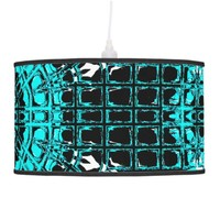Glass Effect Mosaic Aquamarine Ceiling Lamp