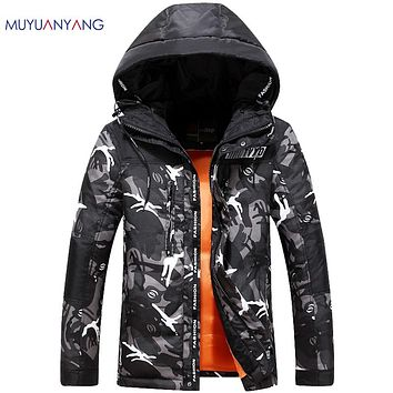 Jacket Men Casual Duck Down Jacket Warm Snow Coat High Quality Hooded Fatigues Over Coats