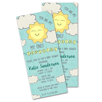 You are My Sunshine Baby Shower Invitations - Boy You Are My Sunshine Shower Invite - Boy Baby Shower Invitation - Sunshine Invites - Its a