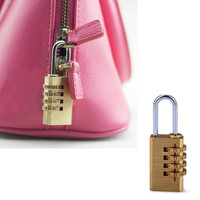 Mini 4 Digits Number Password Code Lock Combination Padlock Resettable For Travelling Bag Door