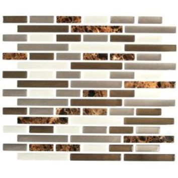 Stick-It Tiles, 11 in. x 9.25 in. Mixed Brown Marble Oblong Adhesive Decorative Wall Tile, 27089 at The Home Depot - Mobile