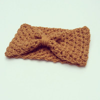 Headband Crochet Turban Earwarmer Rust Mustard Fall Autumn