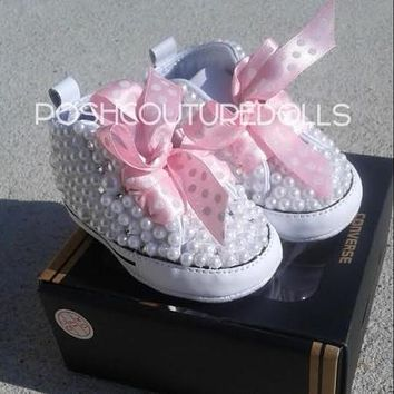 Couture Pearl and Crystals Custom Converse