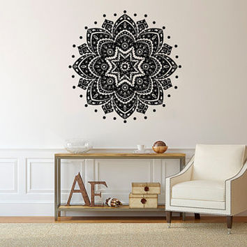 Wall Decal Vinyl Sticker Decals Art Decor Design Mandala Family Sumbol Ornament  Indidan Geometric Moroccan Pattern Modern Bedroom (r1314)