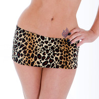 Dare To Bare Leopard Print Mini Skirt Stripper Clothing