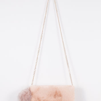 Fuzzy Pink Bag