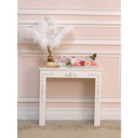 Shabby White Rose Fireplace Cover - FIREPLACES - FURNITURE