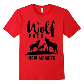 Wolf Pack New Member Shirt Wolves Men Son Boy Dad Father